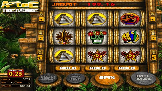 Характеристики слота Aztec Treasure 2D 5