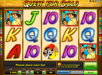 Бонусная игра Quest For Gold 1