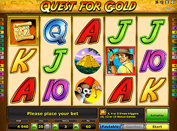 Бонусная игра Quest For Gold 5