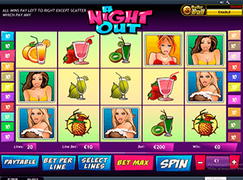 Бонусная игра A Night Out 1